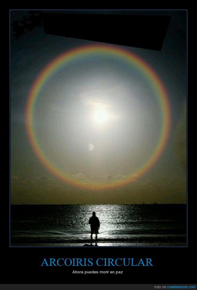 arcoiris,circular,foto,genial,morir,paz,redondo,sol