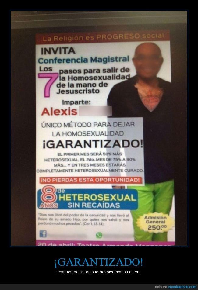 cartel,conferencia,curación,curso,Heteros,Homo,homofobia,recaída,Religión
