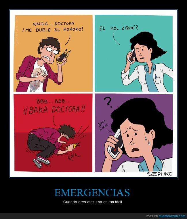 anime,baka,doctor,emergencia,kokoro,otaku,sephko