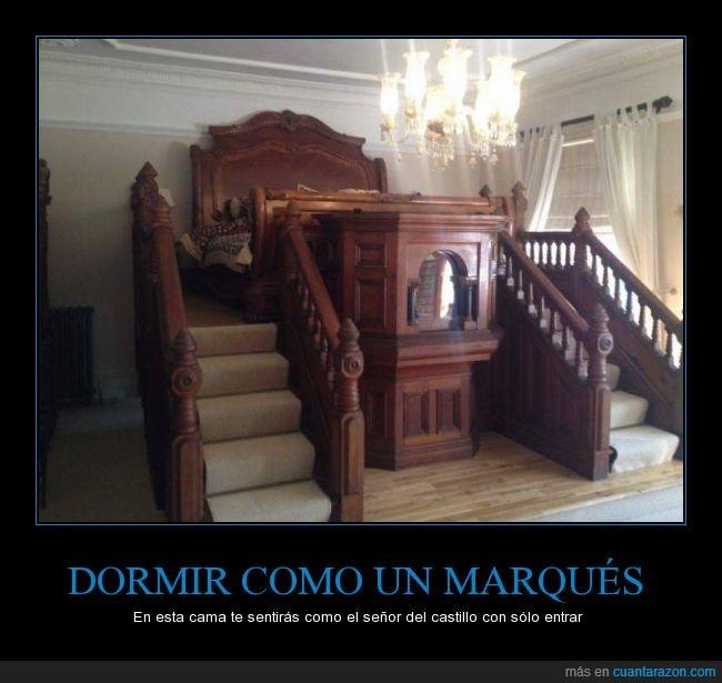 arquitectura,cama,dinero,dormir,escaleras,marques,mobiliario,mueble,rico