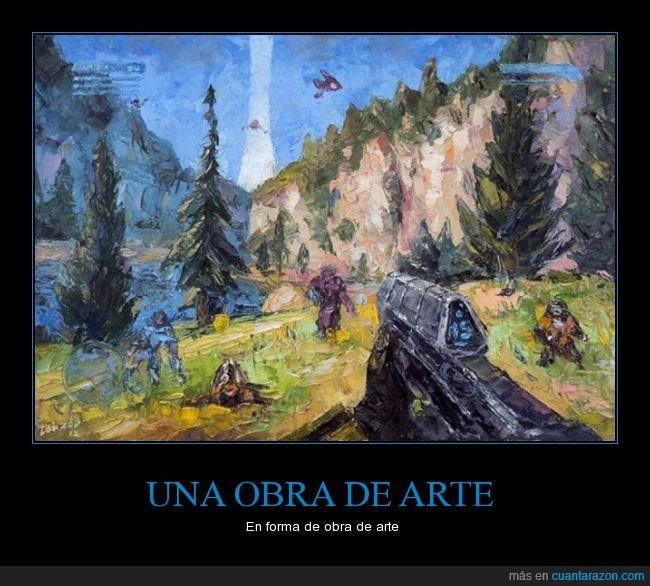 arte,cuadro,fps,gamer,impresionista,Mass Effect,obra,pintura,videojuego