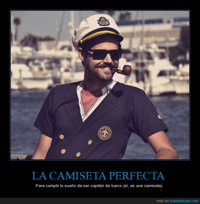 barco,camiseta,capitan,estampado,perfecta,pintada,pipa