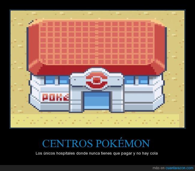 centros pokemon,cola,nunca hay imperfecciones alli,pokemon