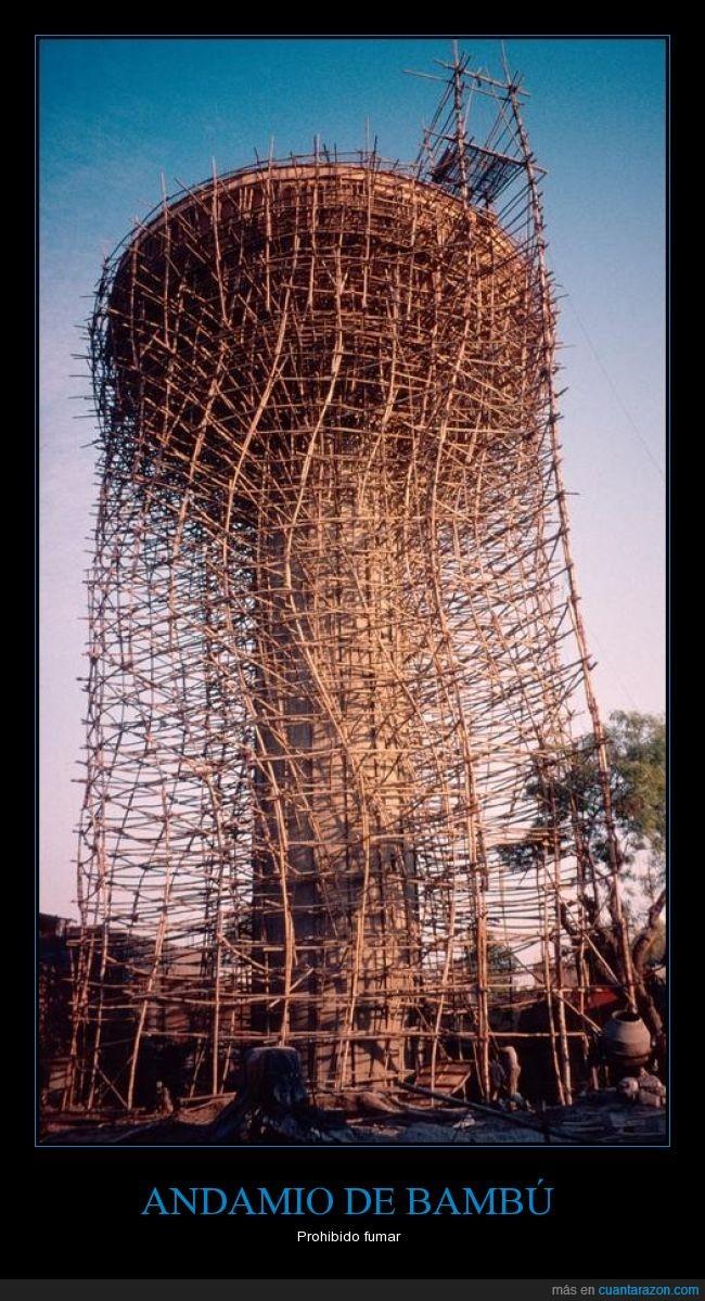 andamio,bambú,construcción