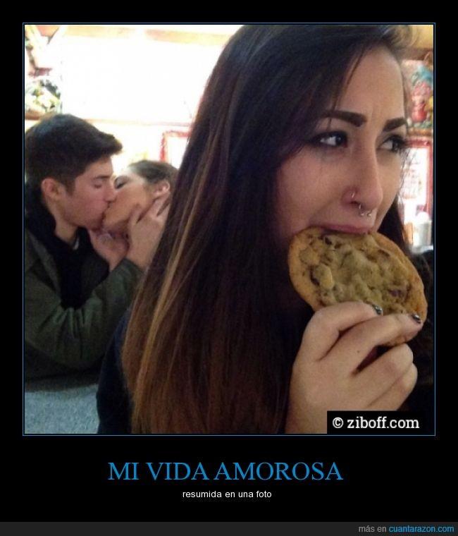 amor,beso,chica,enamorados,galleta,pareja