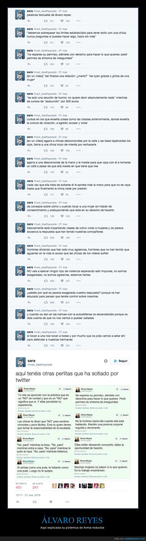 Álvaro Reyes,machista,polémica,seducción,Twitter,violación