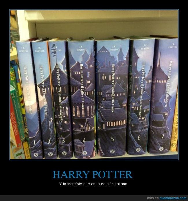castillo,diseño,genial,harry potter,hogwarts,increible,italia,libro,lomo