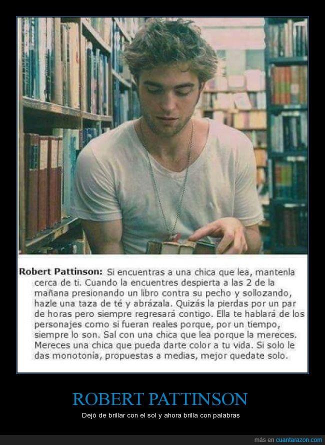 leer,libros,robert pattinson,también se aplica a los chicos,twilight