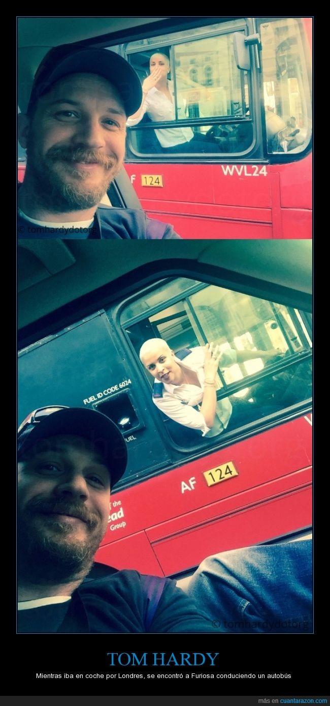 autobus,casualidad,chica,conductora,Furiosa,Mad Max,rapada,Tom Hardy