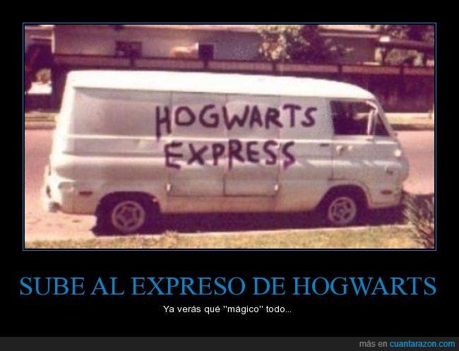 expreso de hogwarts,harry potter,mal rollito,no quiero que dumbledore me enseñe su varita