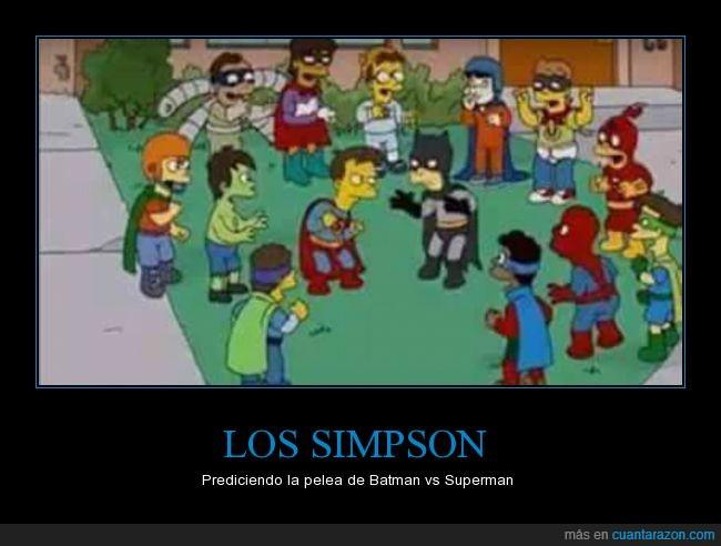 Batman,pelea,simpson,superman