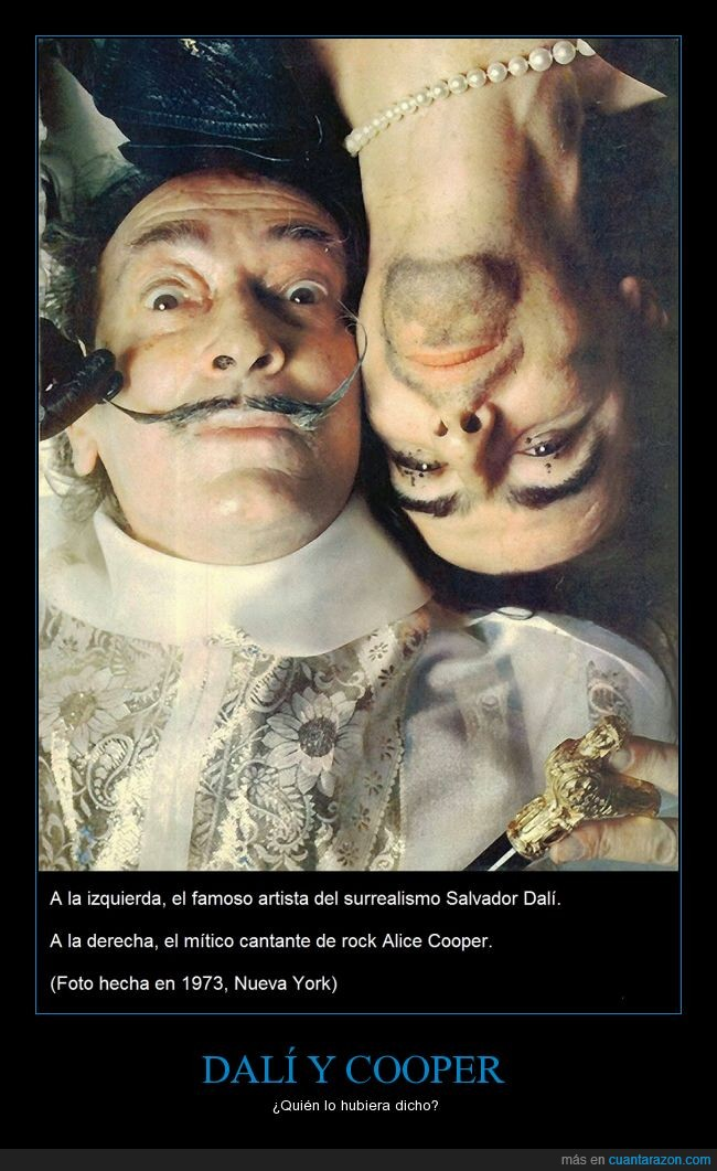 1973,Alice Cooper,Nueava York,rock,Salvador Dalí,surrealismo,¿será este mi primer cartel?
