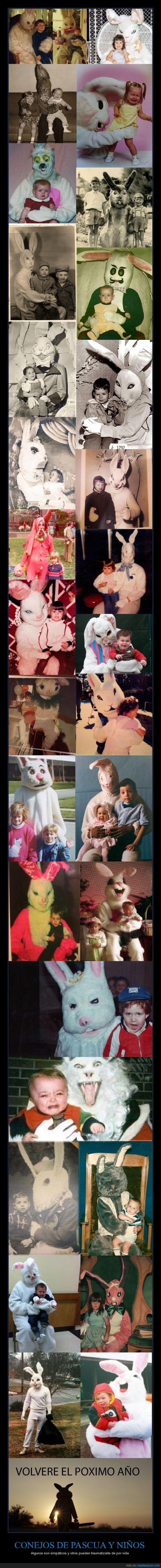 Conejos,diabolicos,extras de peliculas de terror,pascuas