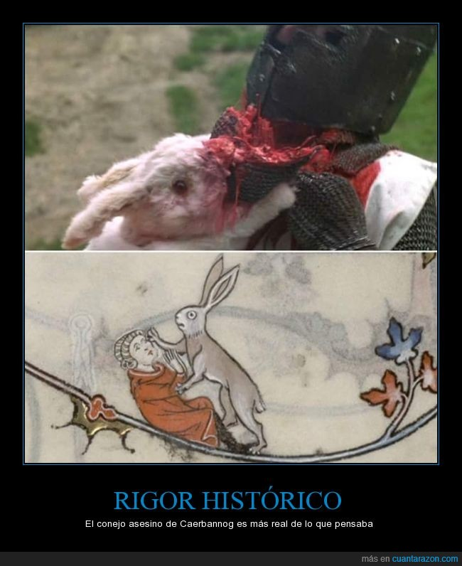 caballero,caballeros de la mesa cuadrada,conejo asesino de caerbannog,dibujo,edad media,matar,medieval,monty python