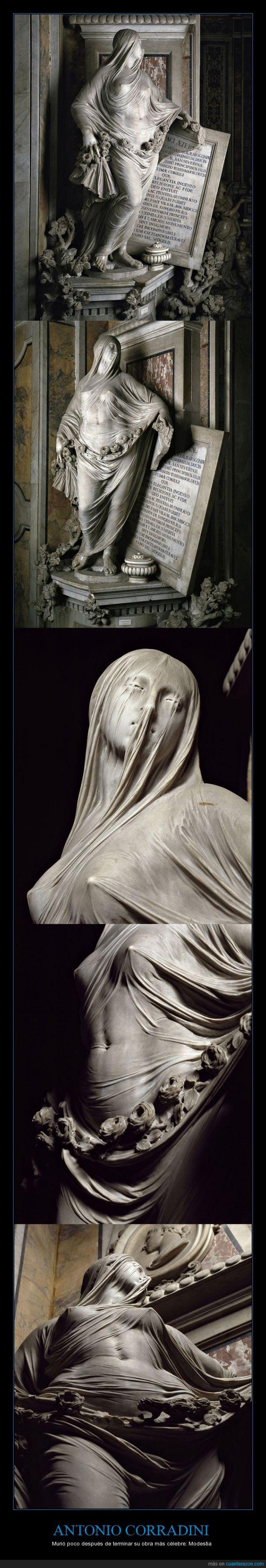 1752,Antonio Corradini,escultor,mármol,Nápoles