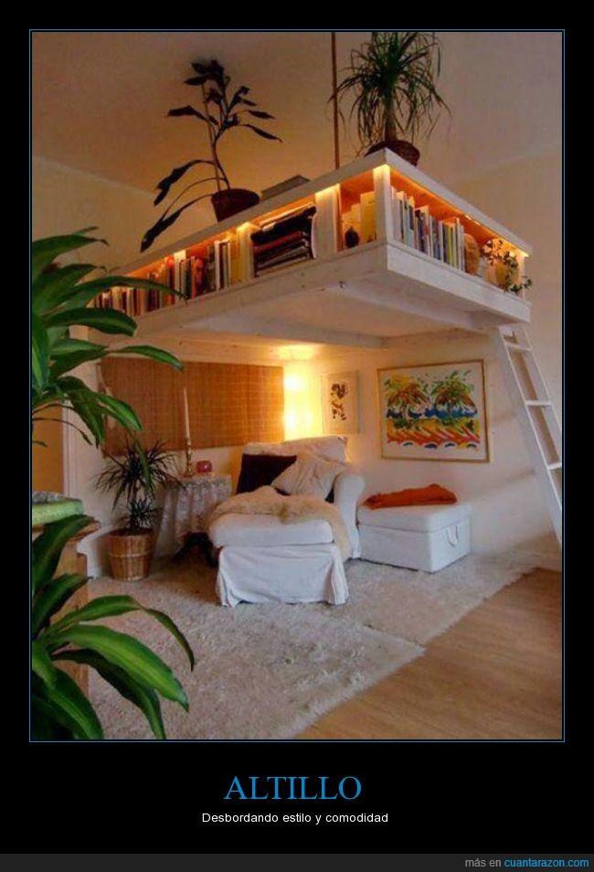 80's,cama,comodo,desvan,estilo,galeria,genial,loft,planta,reminiscent