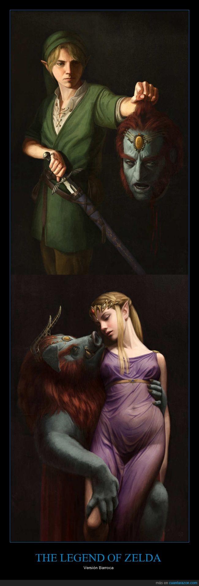 Arte,Barroco,En la fuente hay una mas con Zelda Desnuda...,Link,Zelda