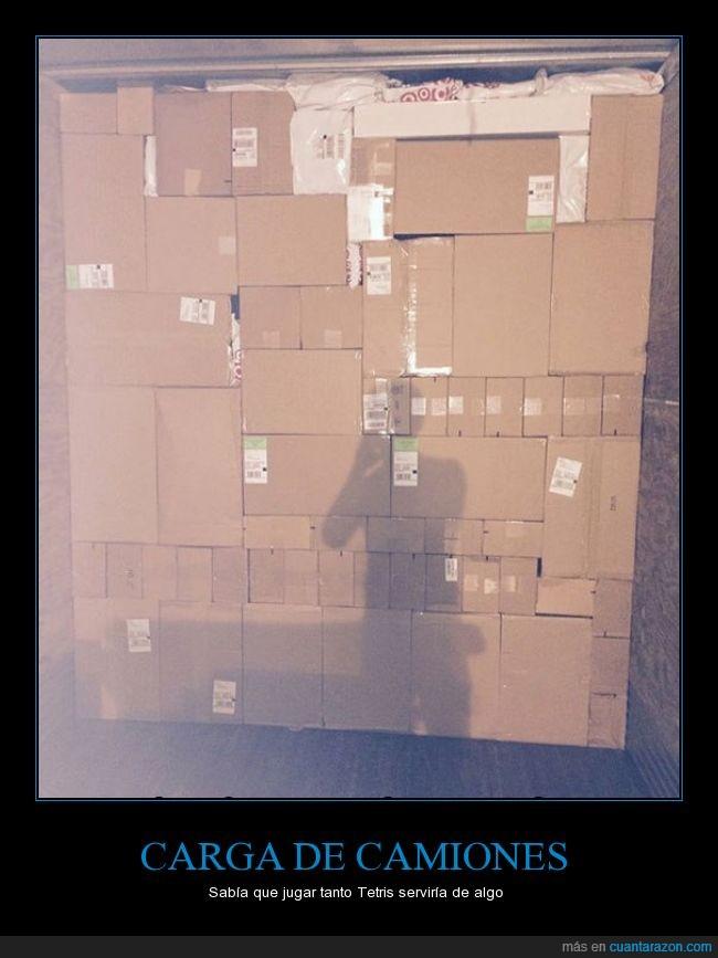 cajas,camion,carga,servir,tetris