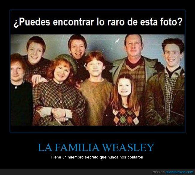 ed sheeran,harry potter,pelirrojo,Weasley