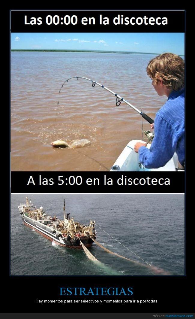 arrastre,caña,discoteca,ligar,pesca,pescar