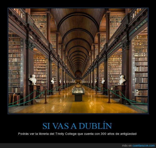 300,antiguo,Dublin,genial,irlanda,libreria,molar,Trinity College,viejo