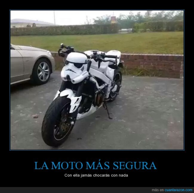 accidente,chocar,fallar,genial,moto,stormtrooper
