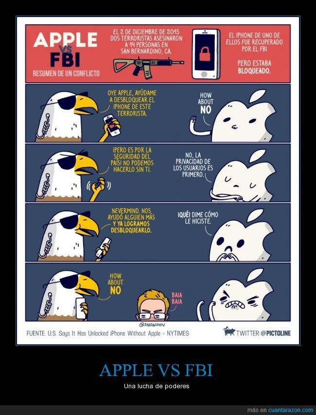 apple,baia baia,fbi,iphone,manzana,nadie tuvo que ceder,pictoline,terrorismo