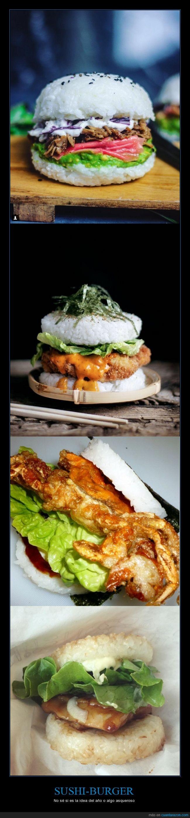 arroz,burguer,hamburguesa,sushi