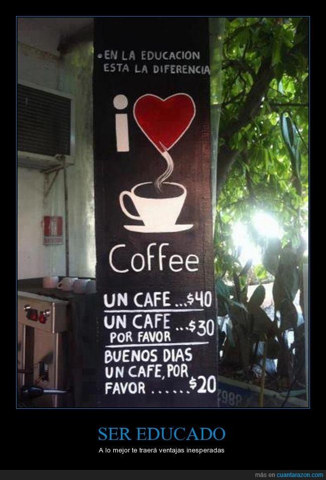 cafe,educación,educado,por favor
