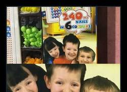 Enlace a En la foto de la caja salían niños con rasgos asiáticos que aquí no interesaban...