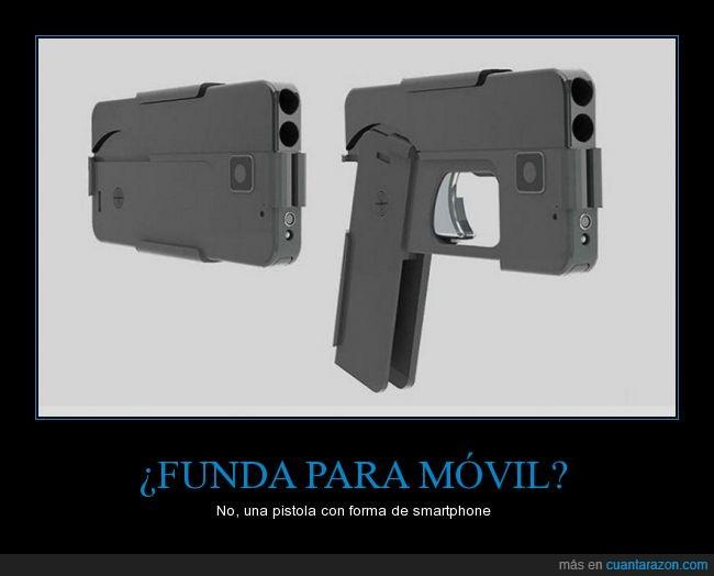 arma,confusión,funda,idea,pistola,smartphone