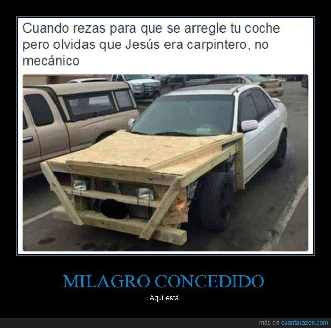 coche,jesús,madera,milagro