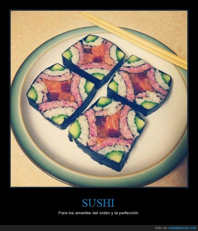 comer,genial,geometrico,orden,sushi
