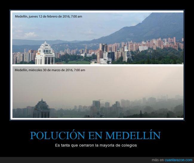 colombia,contaminacion,escuelas,medellin