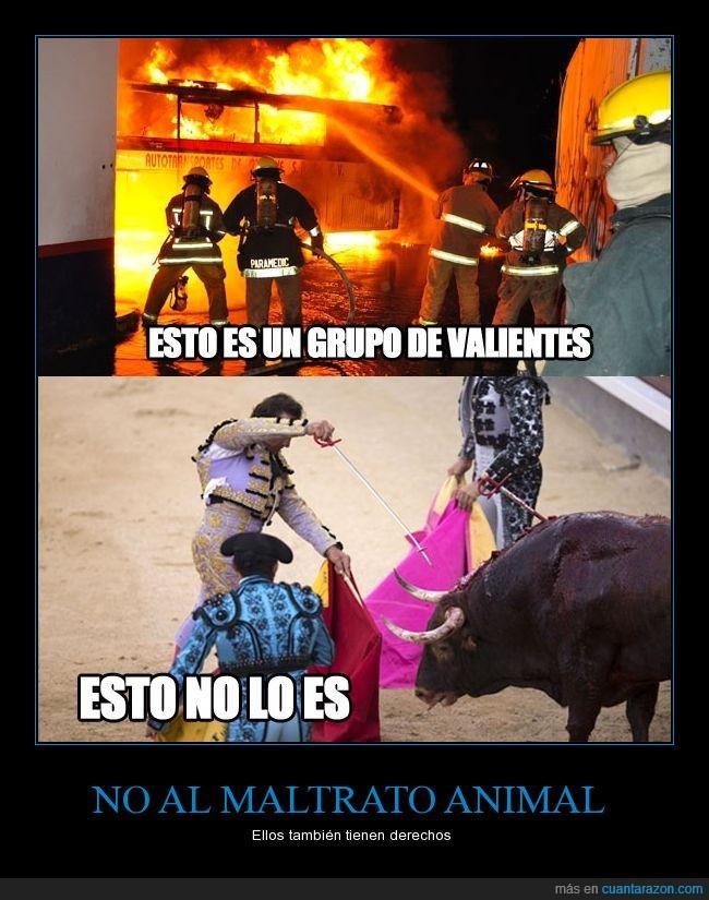 animal,animales,bomberos,fuego,maltrato,tauromaquia,toreo,torero,toro