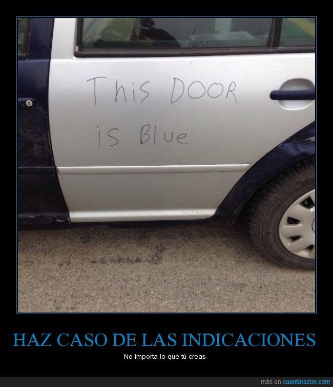 azul,coche,color,pintado,pintar,portezuela,puerta