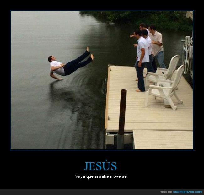 agua,breakdance,caer,genial,hombre,humor,jesus
