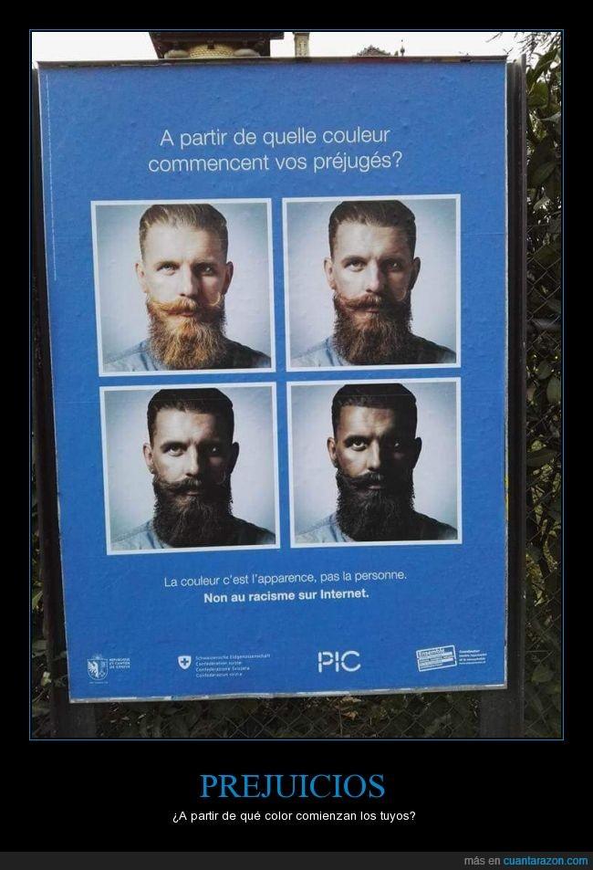 barba,chico,color,moreno,musulmán,pelirrojo,piel,prejuicios,racismo
