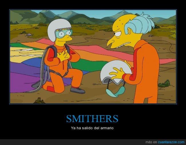 amarillo,armario,Burns,gay,Los Simpson,Smithers