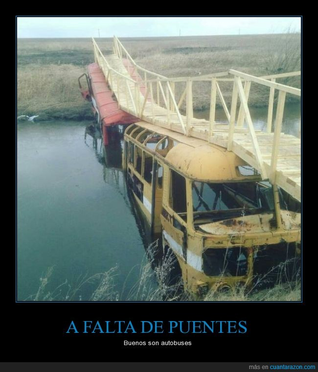 autobus,charca,falta,puente,rio