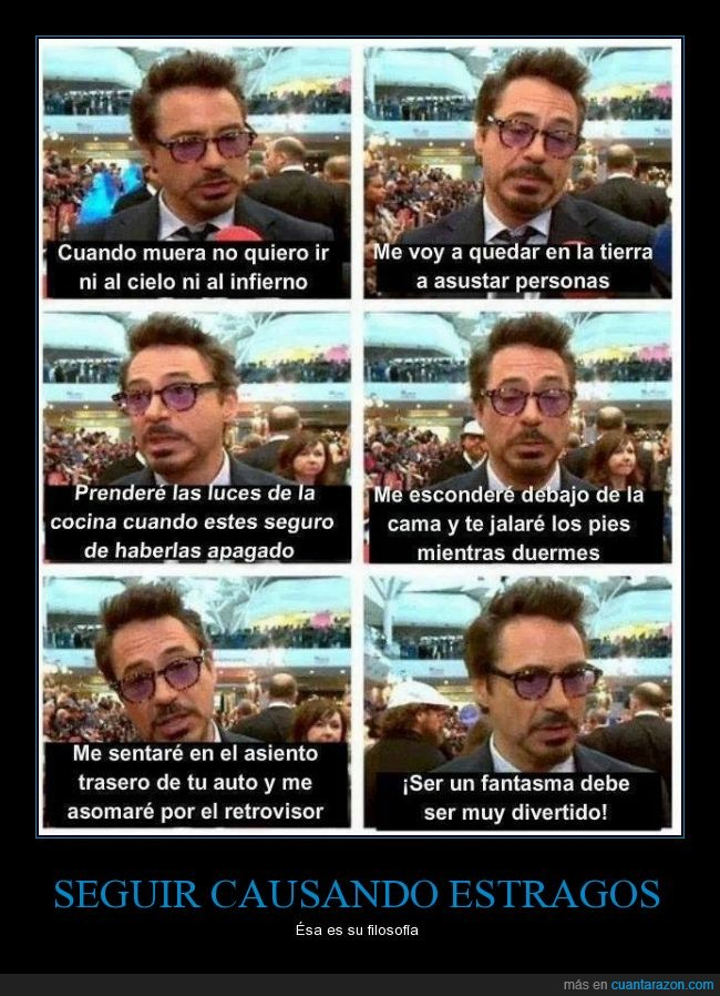 fantasma,iron man,Marvel,morir,robert downey jr,tony stark,volver