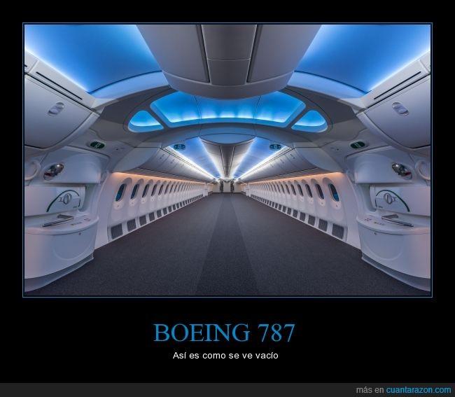avion,boeing 787,espacio,sillas,vacio