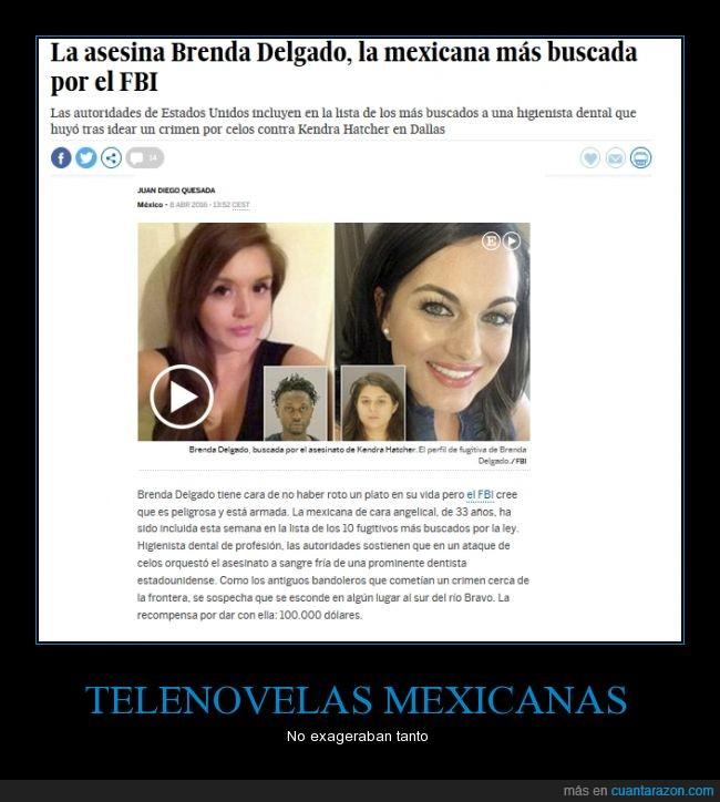 asesina,dentista,fugitiva,Mexicana,recompensa,telenovela