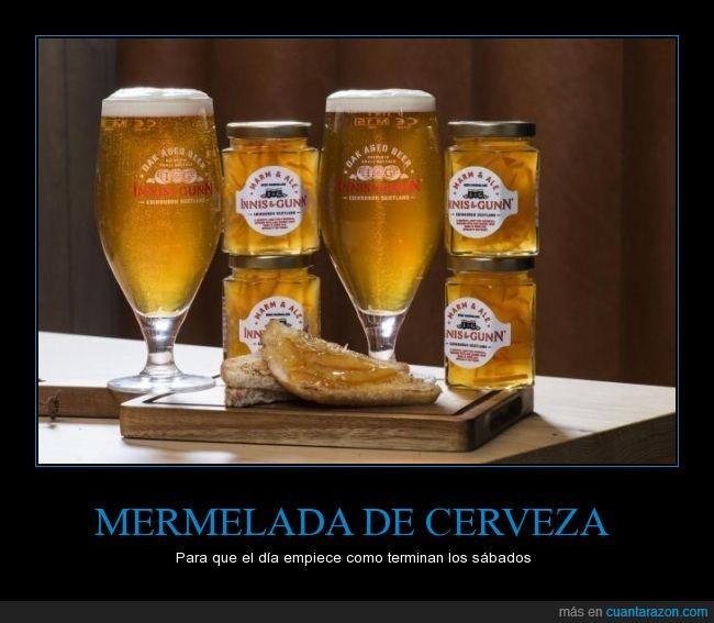 cerveza,desayuno,mermelada,untar