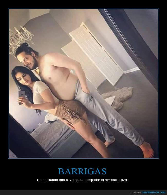 barriga,chica,curva,hueco,mujer,novia,novio,panza,parejas,que viva la cerveza,rompecabezas,selfie,tripa