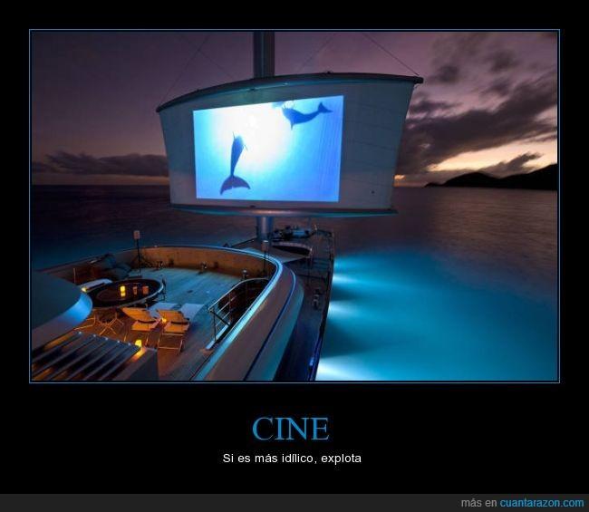 agua,barco,cine,idílico,mar,yate