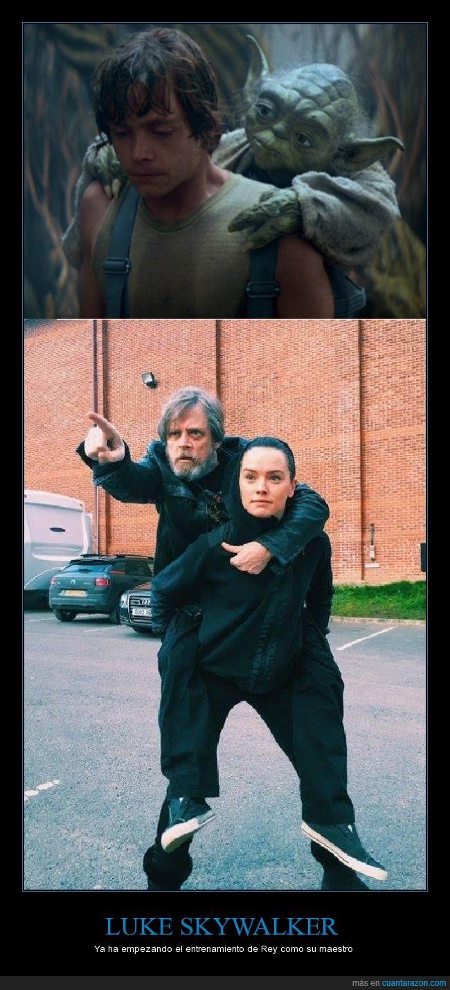 broma,entrenamiento,Luke,maestro,película,Rey,Skywalker,Star Wars,Yoda