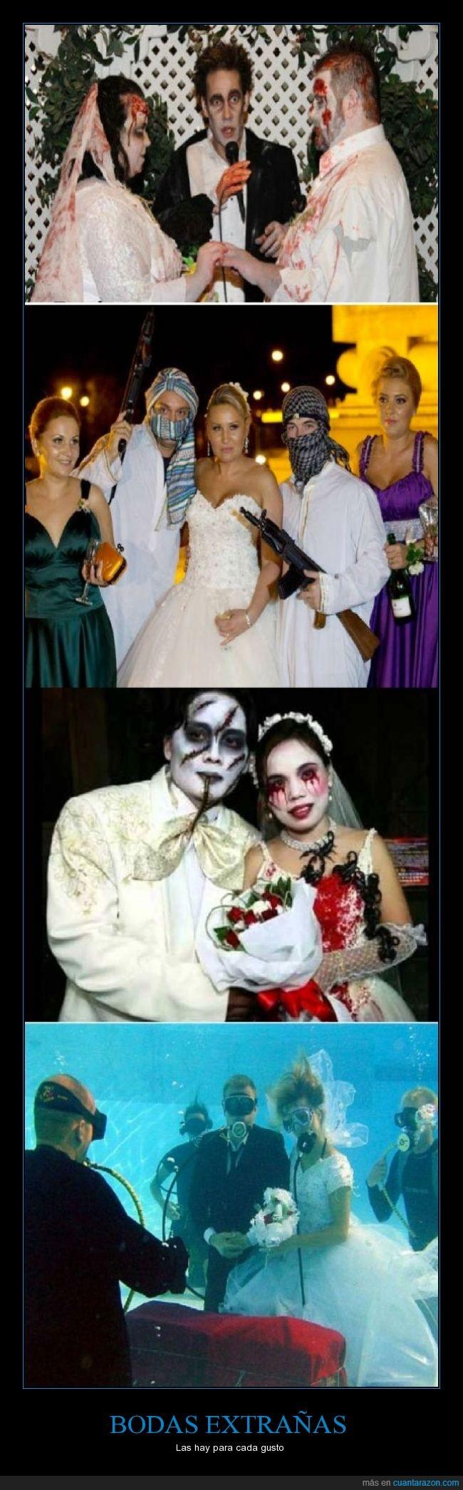 agua,arma,asiaticos,boda,extraño,matrimonio,pareja,temática,vampiro,zombie
