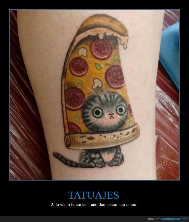 gato,pizza,tatuaje
