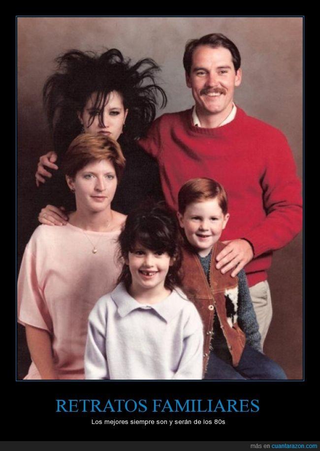familia,gotica,hija,madre,padre,retrato,The cure